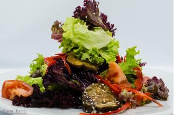 Теплый Фитнес салат из печеных овощей